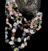 5-ROW FLOWER GEMSTONE NECKLACE