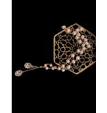 PEARL WIRE NECKLACE WITH TASSEL AND 2 SALAM WORDS