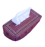 TISSUE BOX EMBROIDERED RED
