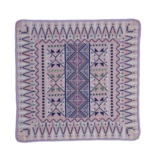 SQUARE CUSHION BABY PINK & VIOLET