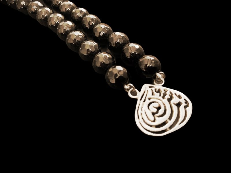 STONE NECKLACE WITH ALMOND MASHA'ALLAH