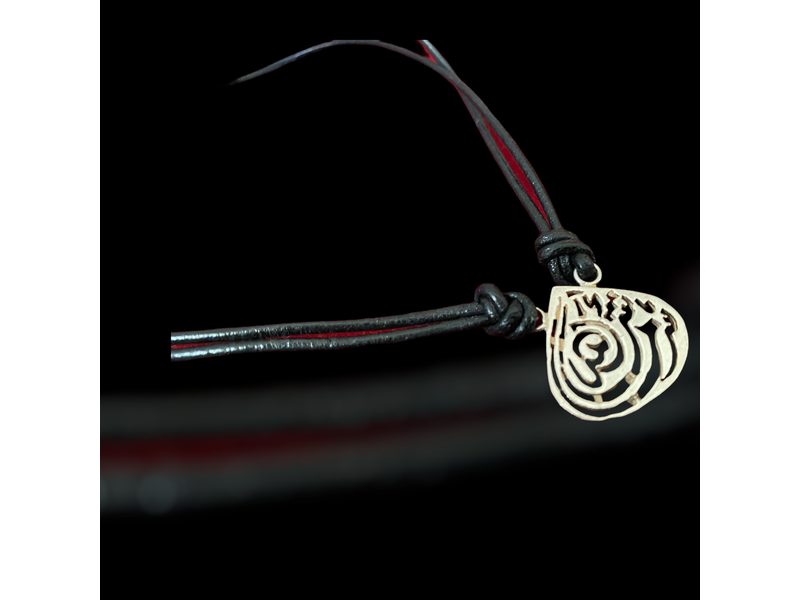 LEATHER NECKLACE WITH ALMOND MASHA'ALLAH