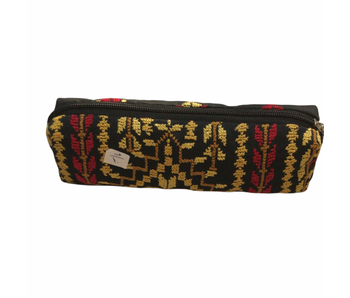 EMBROIDERED PURSE LONG MUSTARD