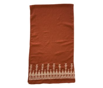 RUST WITH CREAM SMALL SCARF