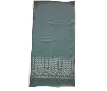 TURQUOISE WITH CREAM SCARF