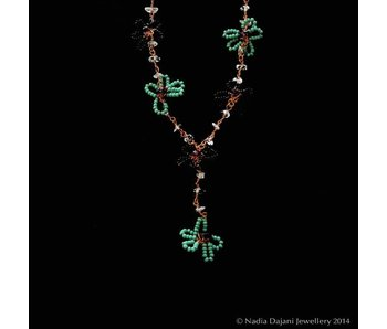 COPPER BEAD FLOWER NECKLACE