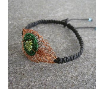 COPPER CROCHET EYE BRACELET