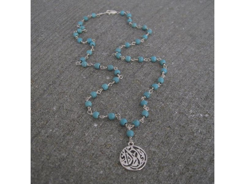 STONE WIRE NECKLACE WITH IQRA DROP