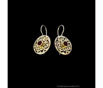 MASHA ALLAH EARRINGS WITH CABOCHONS