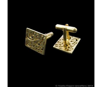 BE BEAUTIFUL GOLD PLATED CUFFLINKS