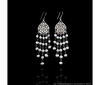 SMALL ARABESQUE SILVER SHOWER EARRINGS