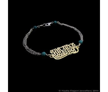 LA GHALIBA BRACELET WITH 5 ROWS OF CHAINS
