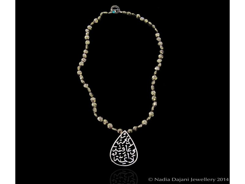 STONE NECKLACE WITH NIMAH SILVER PENDANT