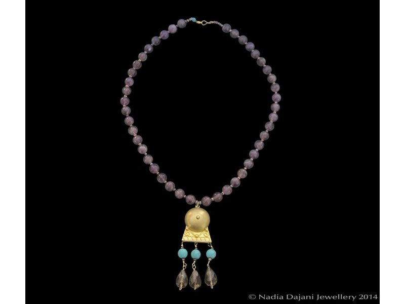 SMALL ROMAN NECKLACE WITH ONYX