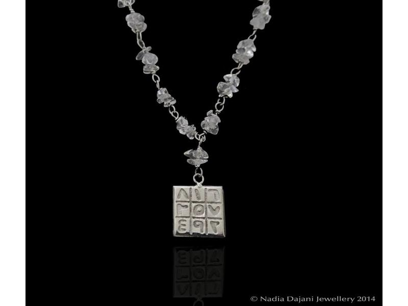 GEMSTONE NECKLACE WITH MAGIC SQUARE