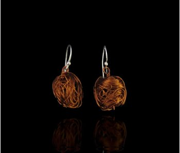 COPPER BEAD EARRING