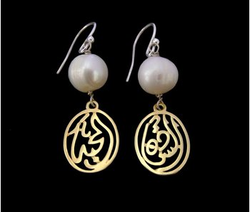 SILVER GOLD PLATED SALAM EARRING