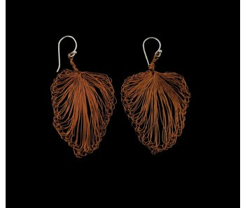 SMALL LEAF COPPER EARRING