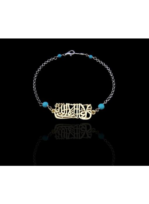 LA GHALIBA GP BRACELET ON SILVER CHAIN