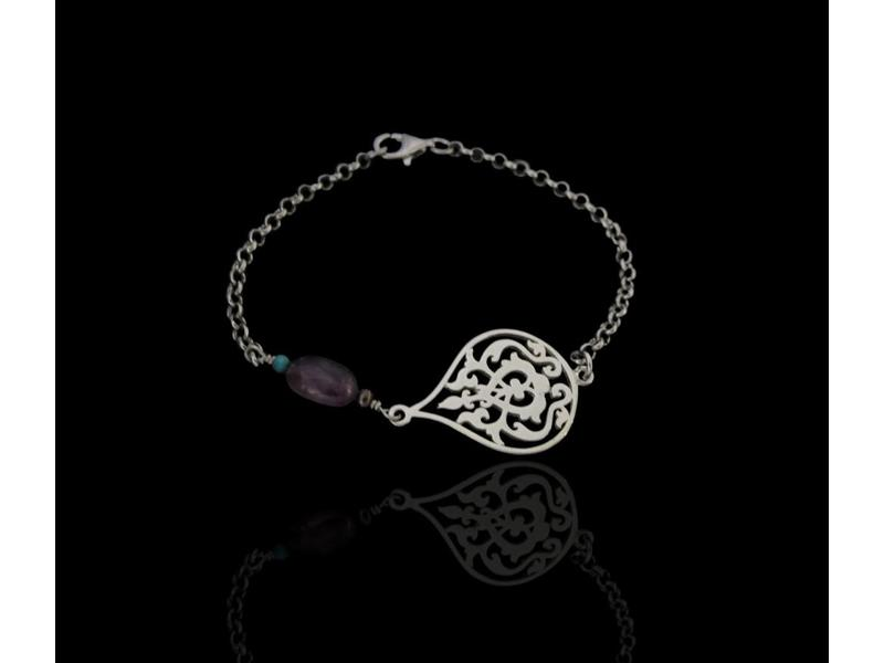 ARABSEQUE CHAIN BRACELET WITH AMETHYST