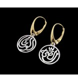 2-TONE SALAM EARRINGS, FRENCH CLASP
