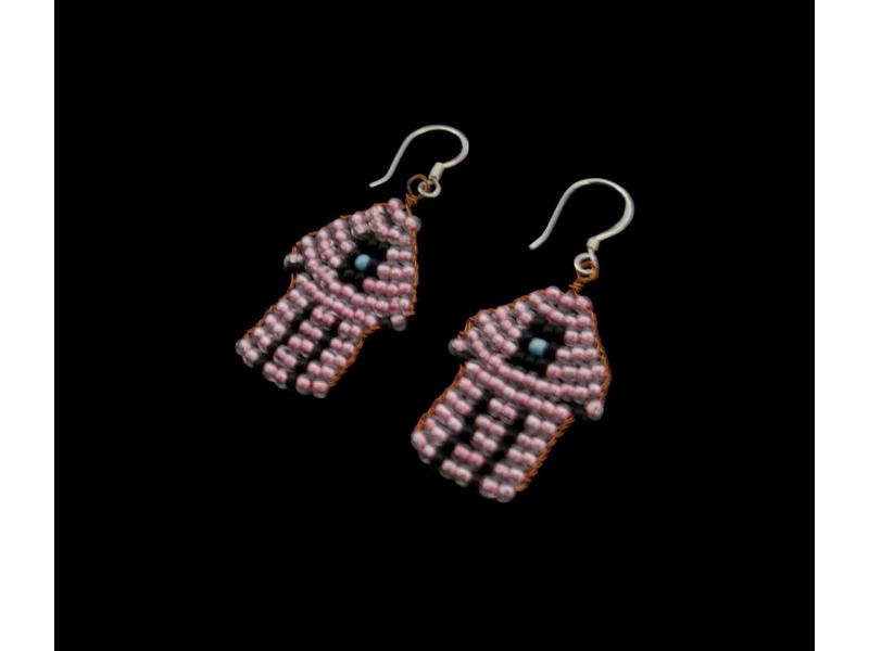 HAND OF FATIMA COPPER EARRING
