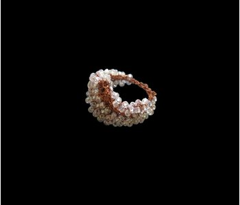 COPPER KNIT BEAD RING