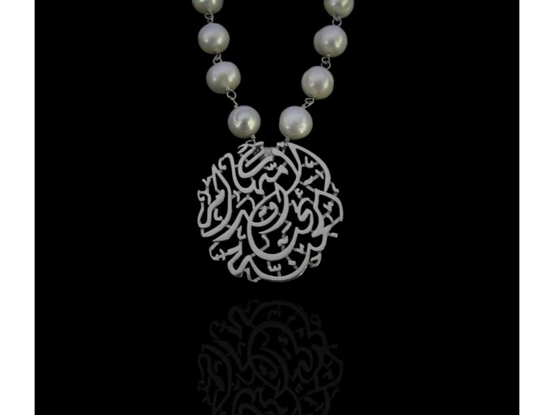 PEARL WIRE NECKLACE WITH CURVY MOTHERHOOD