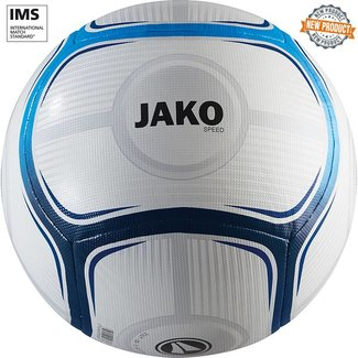 JAKO Trainingsbal Speed Wit-Jako blauw-Marine maat 5