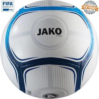JAKO Wedstrijdbal Speed Wit-Jako blauw-Marine maat 5