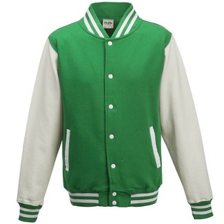 Personal College vest / jacket KELLYGREEN-WHITE kids