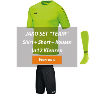 JAKO ZAALVOETBALTOPPER SET TEAM│Shirt-short-kousen