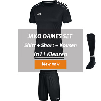JAKO DAMES ZAALVOETBALTOPPER SET STRIKER 2.0│Shirt-Short-kousen