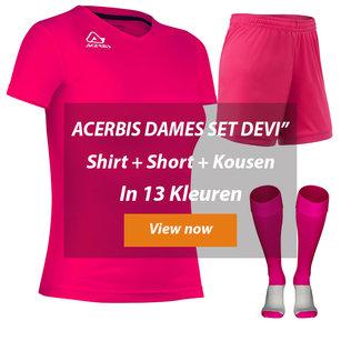 ACERBIS DAMES ZAALVOETBALTOPPER SET DEVI│Shirt-Broekje-kousen