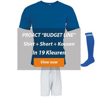 Proact ZAALVOETBALTOPPER Budget Line│SHIRT-SHORT-KOUSEN