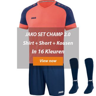 JAKO ZAALVOETBALTOPPER SET CHAMP 2.0│Shirt-Short-kousen
