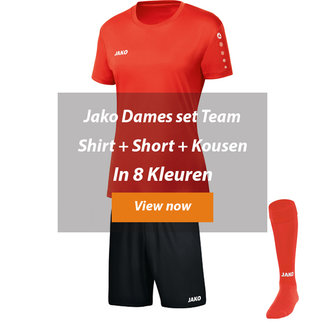 JAKO DAMES ZAALVOETBALTOPPER SET TEAM│Shirt-Short-kousen