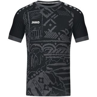 JAKO Shirt Tropicana Zwart-Antraciet