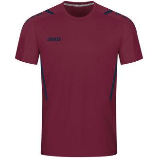 JAKO Shirt Challenge Kastanje-Marine