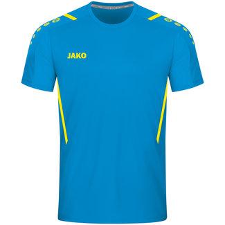 JAKO Shirt Challenge Jako blauw-Fluo geel