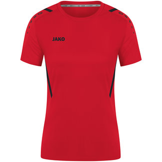 JAKO Shirt Challenge Dames  Rood-Zwart
