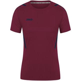JAKO Shirt Challenge Dames  Kastanje-Marine