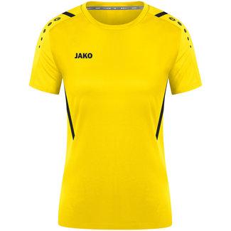 JAKO Shirt Challenge Dames Citroen-Zwart
