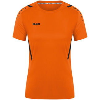 JAKO Shirt Challenge Dames Fluo oranje-Zwart
