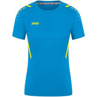 JAKO Shirt Challenge Dames Jako blauw-Fluogeel