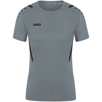 JAKO Shirt Challenge Dames Steengrijs-Zwart