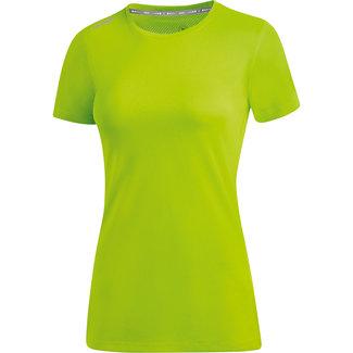 JAKO Shirt Run 2.0 Dames Fluo groen