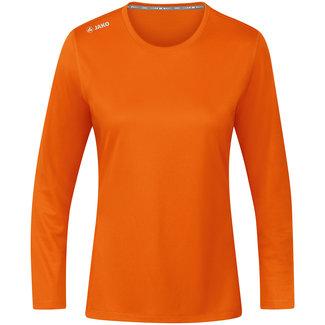 JAKO Shirt Run 2.0 longsleeve Dames Fluo oranje