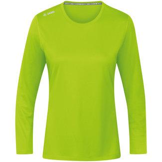 JAKO Shirt Run 2.0 longsleeve Dames Fluo groen