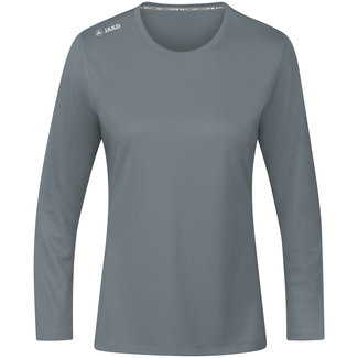 JAKO Shirt Run 2.0 longsleeve Dames Steengrijs